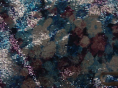 """BLUE EXOTIC MATTE SEQUIN SPANDEX SHINNY SPARKLE 55"""" WIDE FABRIC BY THE YARD"""