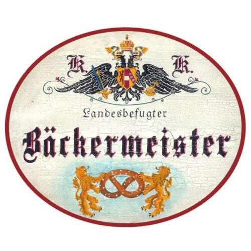 Bäckermeister Breze Nostalgieschild
