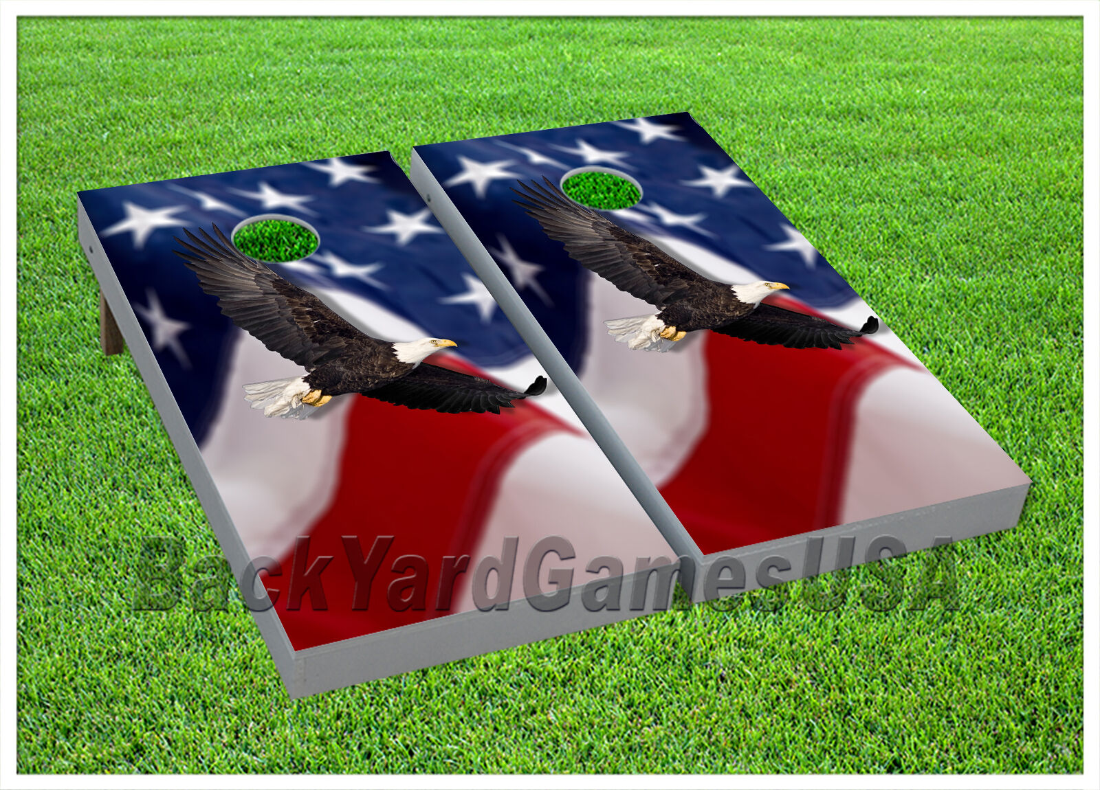 VINYL Patriotic Flying American Eagle WRAPS CORNHOLE BEANBAG Boards 994