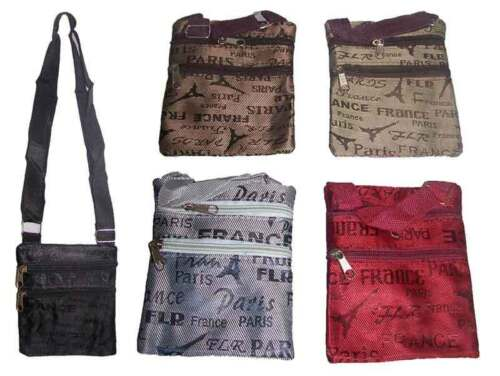 Hb456** Messenger Hipster Cross Body Bags Paris Eifflel Tower