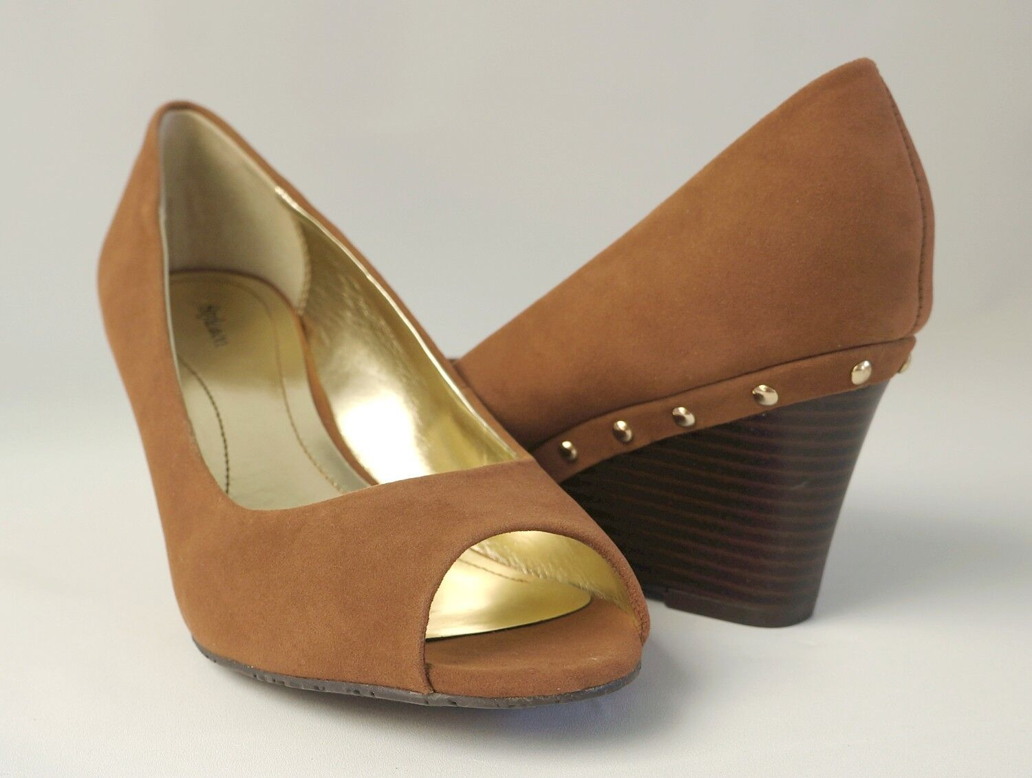 Style&co. Brown All Spice Faux Wedge Pumps SINDY Women's shoes Sz 9