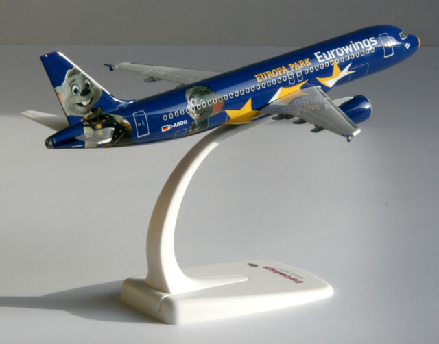 1//200 Herpa Snap Fit Eurowings Airbus A320 Europa-Park 611695