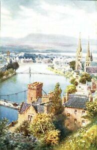 Inverness-From-Castle-Hill-postcard-Bonnie-Scotland-Raphael-Tuck-Sons-antique