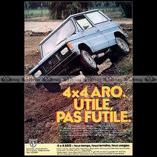 ★ ARO 1983 ★ Pub AUTO 4X4 Publicité Off-Road Advert #A145