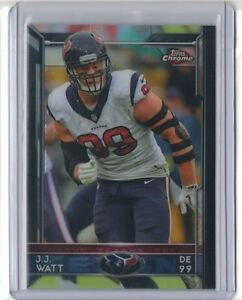 JJ J.J. WATT 2015 Topps Chrome #75 TEXANS Wisconsin ...