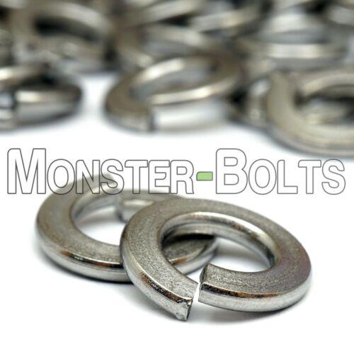 Fender Flat Split Hex Nylon Lock Nut M8 Stainless Steel Nut /& Washer Bundle