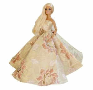 Barbie Golden Lotus Gown, Barbie Romantic Strapless Ball Gown ...