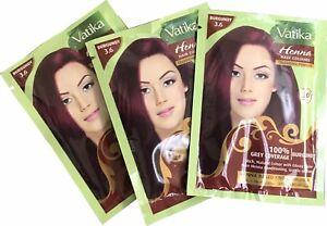 5 X 10g Sachets Dabur Vatika Henna Powder Best Hair Color Burgundy