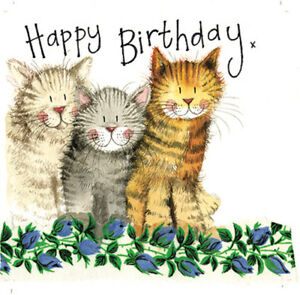 Image Is Loading THE THREE AMIGOS BIRTHDAY CARD CATS ENVELOPE SPARKLE