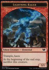 4x Lightning Rager tokens | nm/m | Commander 2015 | Magic mtg