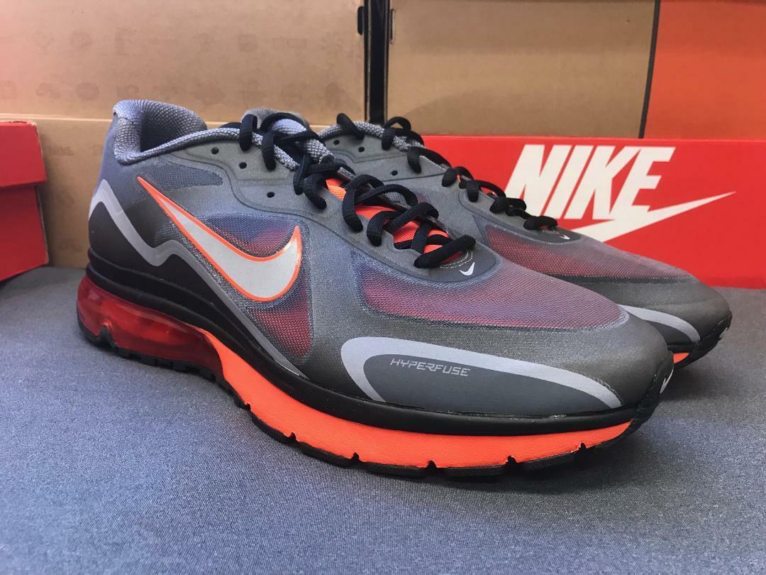 Nike Air Max Alpha 2011 + Sneakers New, Black   Crimson orange 454347-080 sku