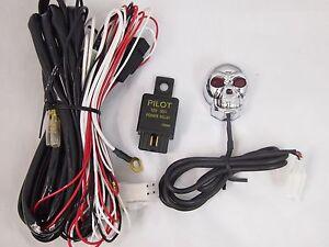 skull wiring harness switch fuse hella piaa bosch kc fog driving lights two led ebay