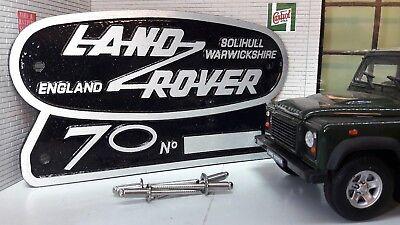 Heritage Ltd Edition Cast Aluminium Grill OEM Tub Badge Land Rover Defender 110