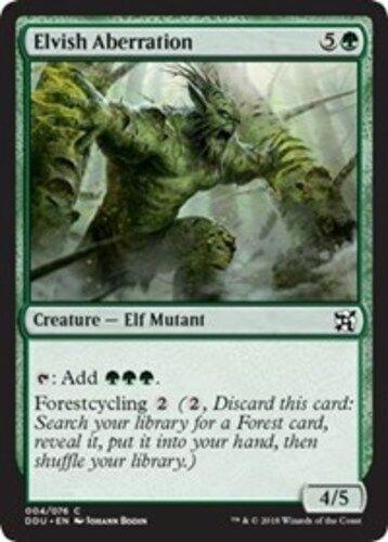 4x Elvish Aberration NM-Mint Elves vs English Duel Decks Inventors MTG Magic