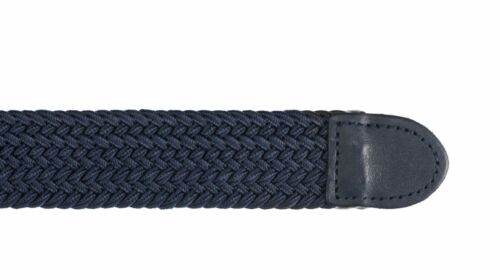 Streeze Mens Elasticated Fabric Woven Braided Stretch Belt 30mm Leather Buckle