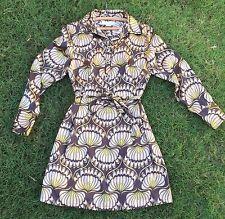 New! Michael Kors Art Nouveau Deco Print Shirt Dress Sz Petite Med $3 Shipping