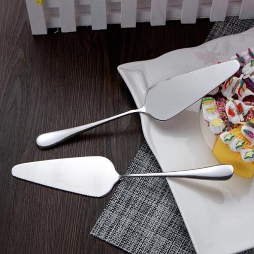 Stainless Serrated Edge Cake Spatula Pizza Shovel Cake Server Pie Cutter Tool SK