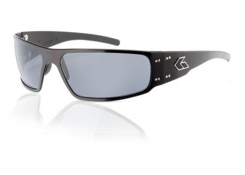 Gatorz Magnum BLACK Aluminum Scratch Resistant Polarized Grey Lens Sunglasses