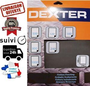 Détails Sur Lot De Feuille De Papier Abrasif Abrasive Poncer Dexter Leroy Merlin 28x23cm