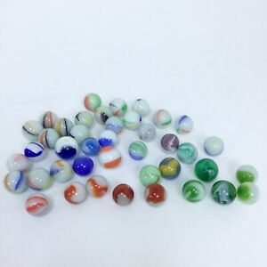 43 Vintage Marbles Turkey Head Corkscrew Agate Milk Glass Patches Slag 12mm 14mm Ebay