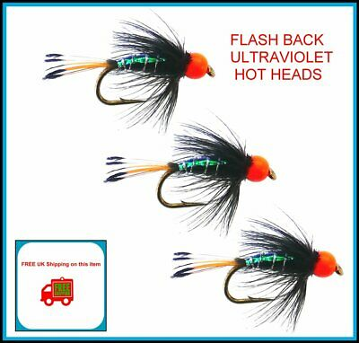 By Arc Fishing Flies UK Trout Flies DAMSEL HOTHEAD Lures Hook sizes 10 or 12