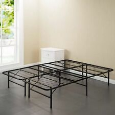 Black Steel Metal Iron Bed Frame Easy Assembly Foundation Support Multiple Sizes