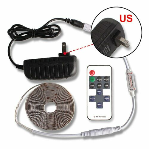 5M 2835 LED Strip Dimmable Touch Sensor Switch 12V Power Supply F Under Cabinet