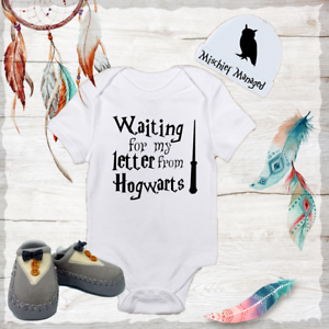 Hogwarts Harry Potter Baby Boy Clothes Onesies Hat Grey Shoes Shower Gift