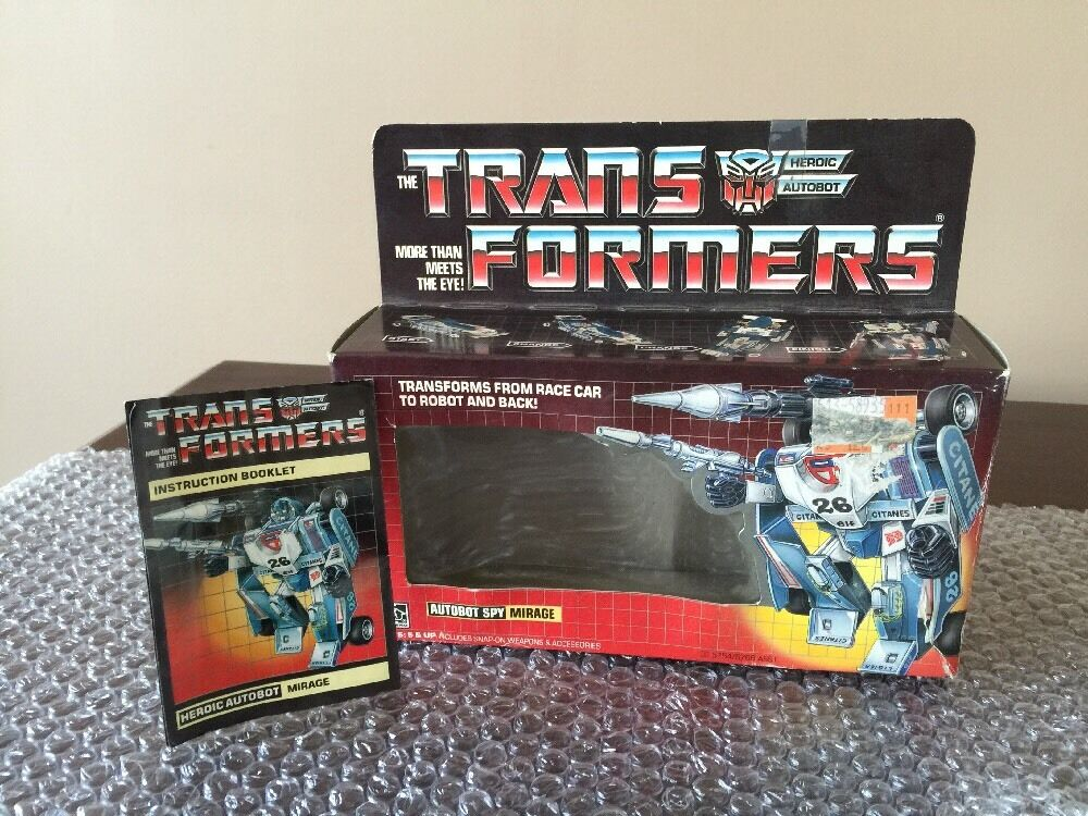 1984 G1 Transformers MIRAGE BOX ONLY. (RARE EARLY USA BOX) BOX) BOX) And Instructions Wow b33650