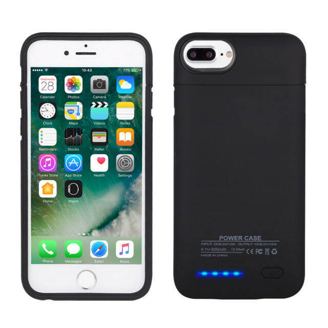 huge discount b3aa8 3611a 3000mAh for iPhone 7 8 6 6S Battery Charger Case External Power Pack Bank  Cover