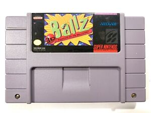 Ballz Super Nintendo Game SNES Game Tested + Working & Authentic!