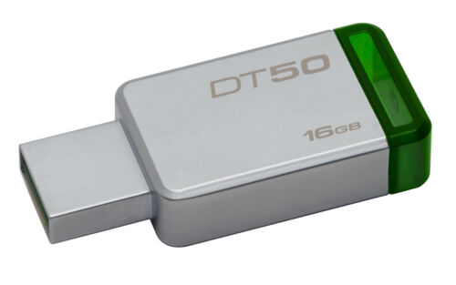 16GB Kingston DataTraveler 50 USB3.0 Flash Drive Green//Silver