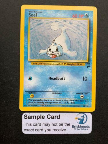 Seel 61//130 UncommonBase Set 2Pokemon Card