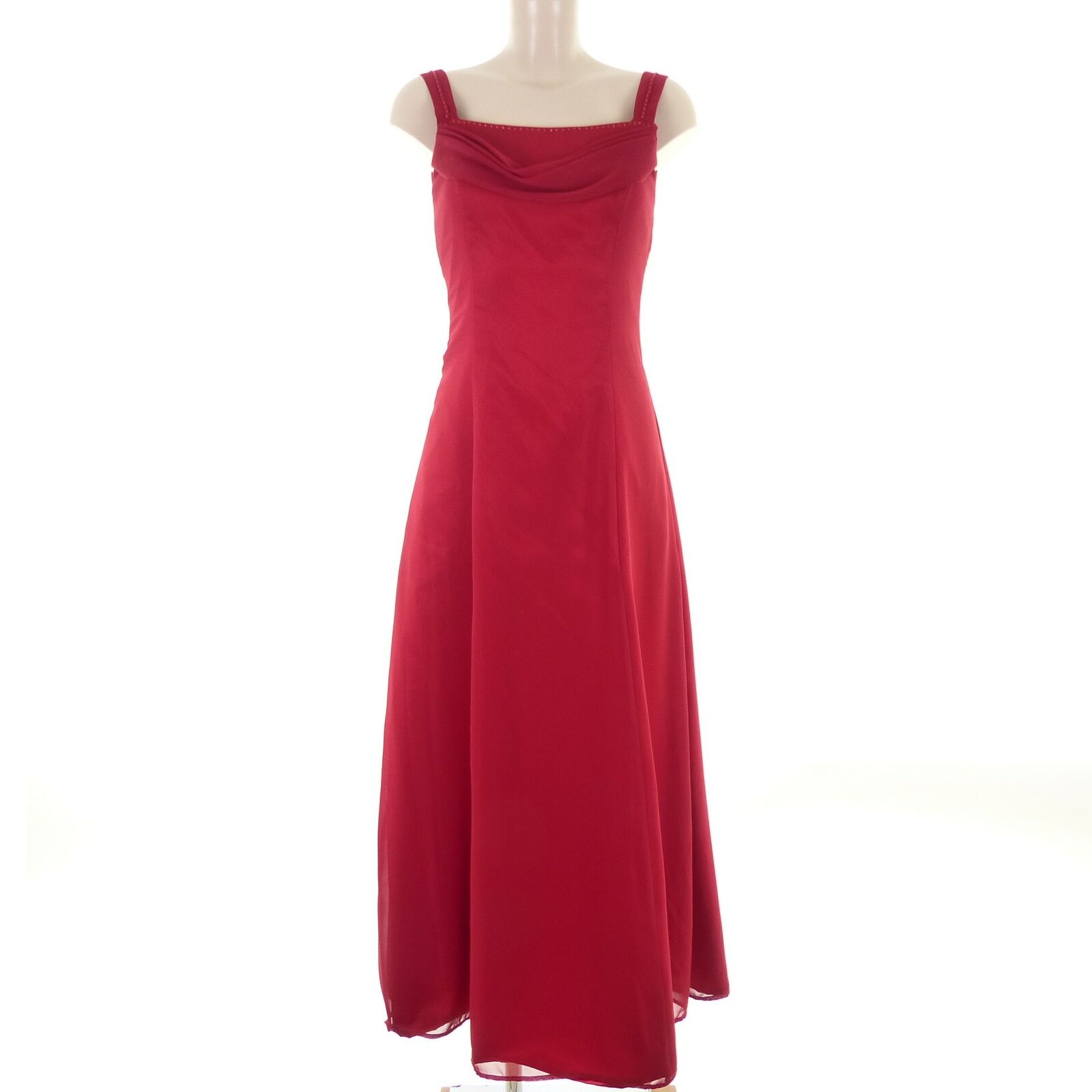 d.m.fashion abendkleid maxikleid dress robe rot red gr. 38 m