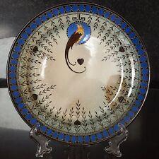 "Royal Doulton TITANIAN Bird of Paradise 9.5"" Shallow Dish, Hand Painted"