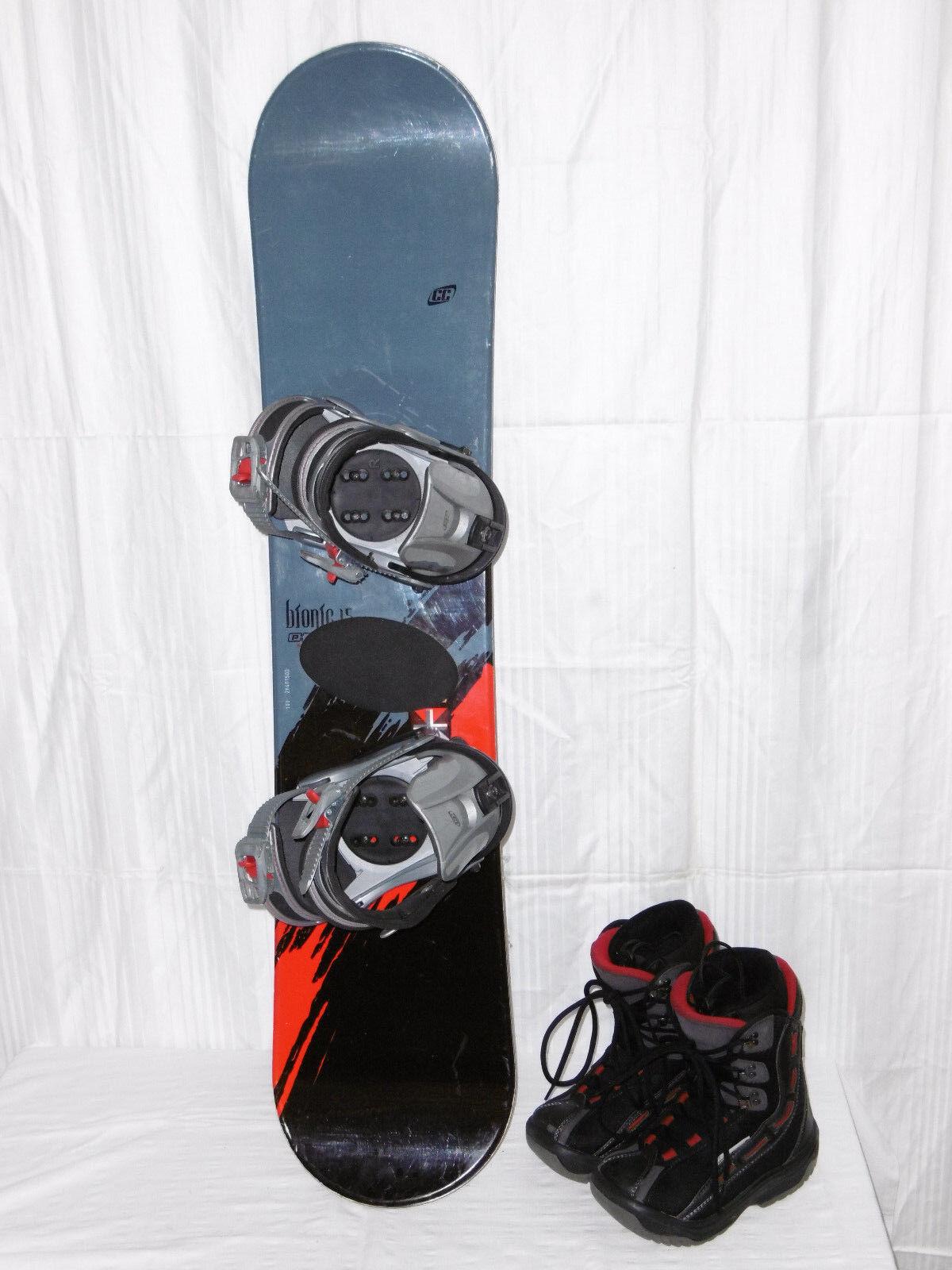 Crazy Creek  ROC  Top Junior Freestyle Snowboard 115 cm + Stiefel Größe  34 in Set