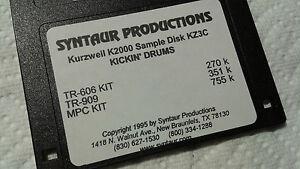 Kurzweil ~ New Old Stock ~ KICKIN' DRUMS ~ KZ3C ~ Kurzweil V.A.S.T Programs!!!