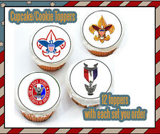 Eagle Scout court of honor edible image cookie toppers cupcake tops Boy scout