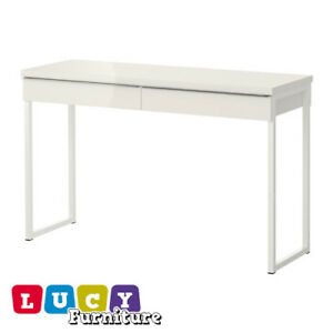 Image Is Loading Ikea Besta Burs Office Desk With 2 Drawers