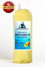 APRICOT KERNEL OIL REFINED ORGANIC CARRIER COLD PRESSED 100% PURE 32 OZ