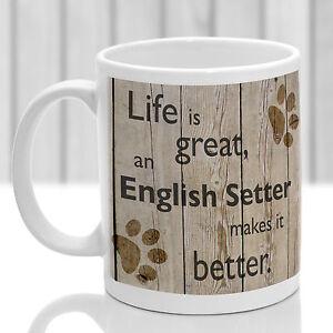 English Setter dog mug English Setter gift ideal present for dog lover - <span itemprop='availableAtOrFrom'>Evesham, United Kingdom</span> - English Setter dog mug English Setter gift ideal present for dog lover - Evesham, United Kingdom