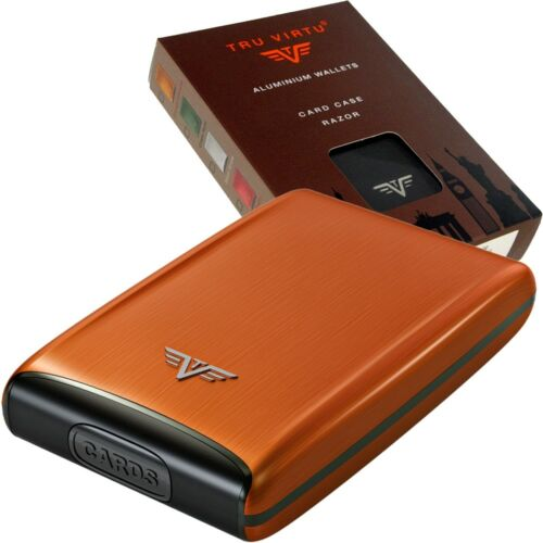 TRU VIRTU Aluminium Kreditkartenetui Visitenkartenetui EC Kartenetui RFID Etui