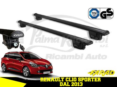IRON120+SM02 BARRE PORTATUTTO FARAD NERE RENAULT CLIO SPORTER DAL 2013