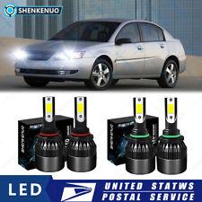 For Saturn Sl Sedan 1991 2002 6000k 4x Front Led Headlight Bulbs High Amp Low Beam Fits 1994 Saturn Sl2