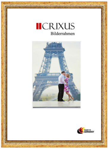 CRIXUS40 Echtholz Bilderrahmen Antik Gold Barock Foto Poster Rahmen B/_53-453