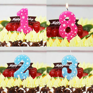 Birthday Cake Numbers Decoration Candles Party Anniversary Candles