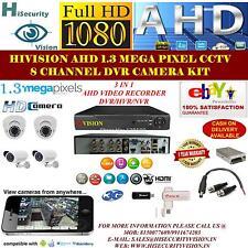 FULL HD CCTV SYSTEM CAMERA KIT 8 CHANNEL DVR 1.3 MEGA PIXEL DOME/BULLET CAMERA