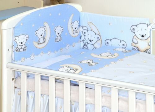 30 MORE DESIGNS PINK CUTE TEDDY  BABY BEDDING SET COT or COT BED size