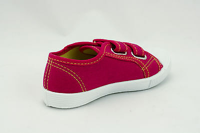 Childrens Kids Girls Canvas Pumps Plimsolls Fastening Sizes UK Kids 7.5-3