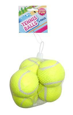 BoyzToys RY800 Outdoor Fun Traditional Design Yellow Tennis Balls 5 Pack - New